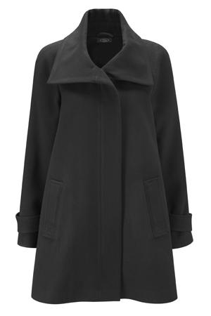 Faux Wool Zip Coat