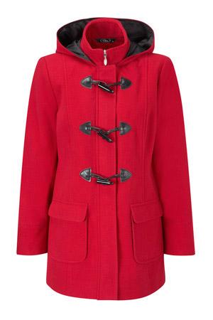 Faux Wool Duffle Coat