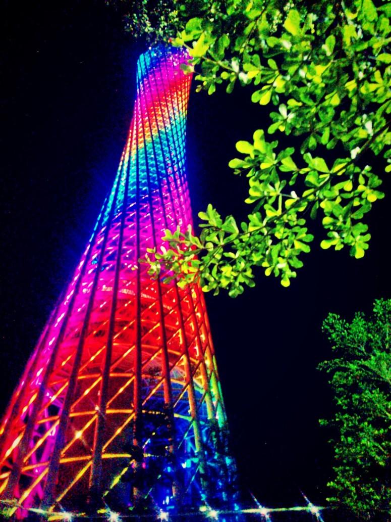 lights canton tower tree