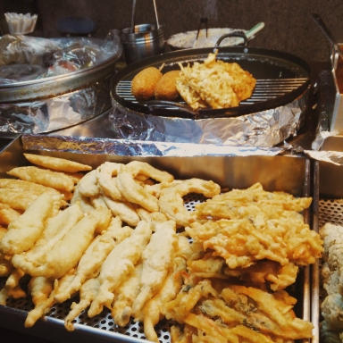 street food, food, seoul, south korea, gangnam, tempura