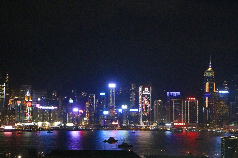 Victoria Harbour Hong Kong skyline view